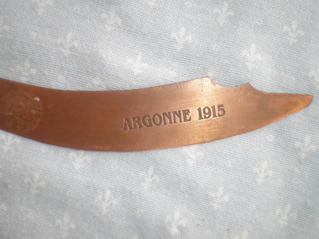 coupe papier artisana de 1 guerre | Puces Privées