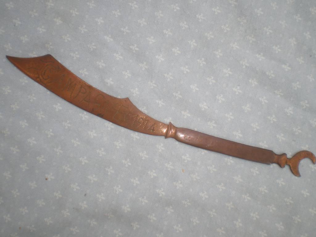 coupe papier artisana de 1 guerre armee d affrique   Puces Privées
