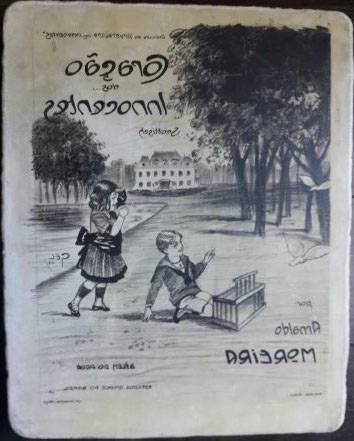 Pierre lithographique édition musicale Moreira Gaston Gel 1913 | Puces Privées