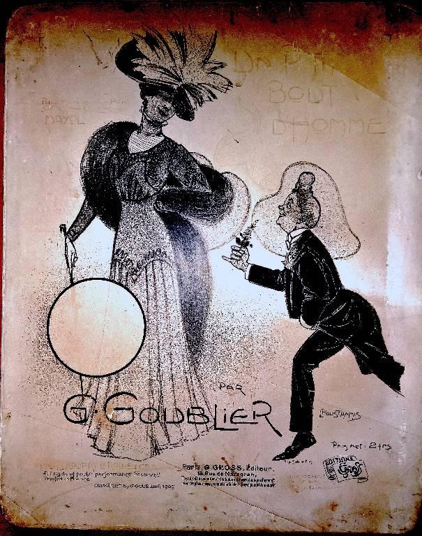 Pierre lithographique « Un p'tit bout d'homme » Goublier 1909 Pousthomis Gross Rouart & Lerolle | Puces Privées
