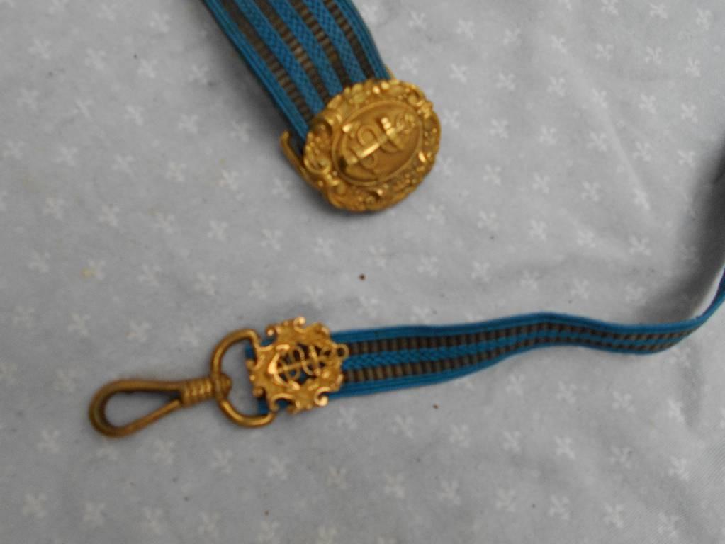 ceinturon d officier de marine fancaise 3 republique   Puces Privées