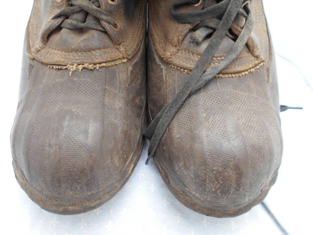 paire de chaussure de grand froid francaise narvik de 2 guerre | Puces Privées