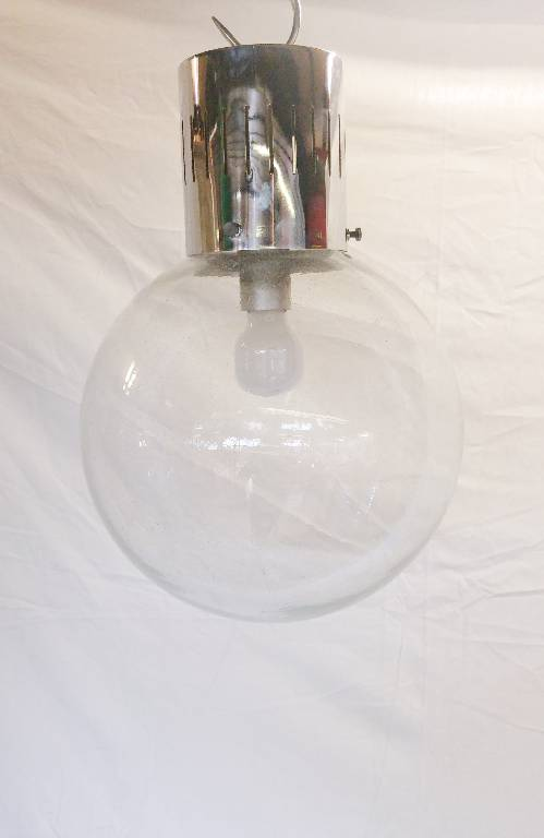 Suspension Globe Ampoule 1970 en verre soufflé | Puces Privées