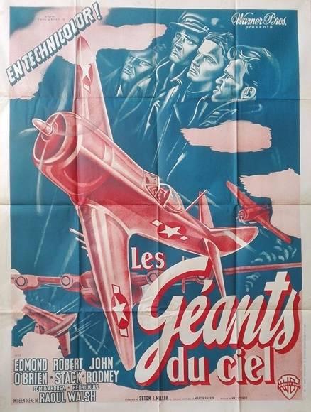 affiche cinéma aviation ancienne Les géants du ciel.120x160 | Puces Privées