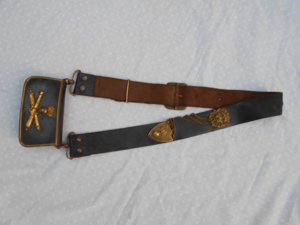 giberne et sa banderole d officier de l artillerie francaise 2 empire | Puces Privées