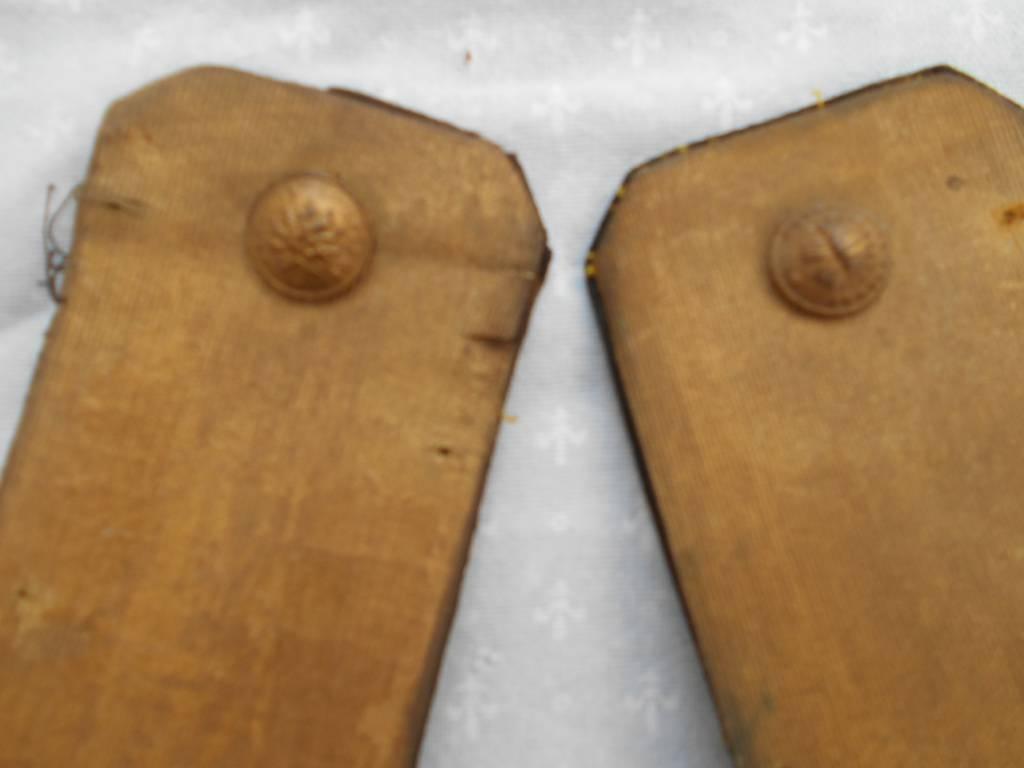 paire d epaulettes d officier de linfanterie francaise 2 empire | Puces Privées