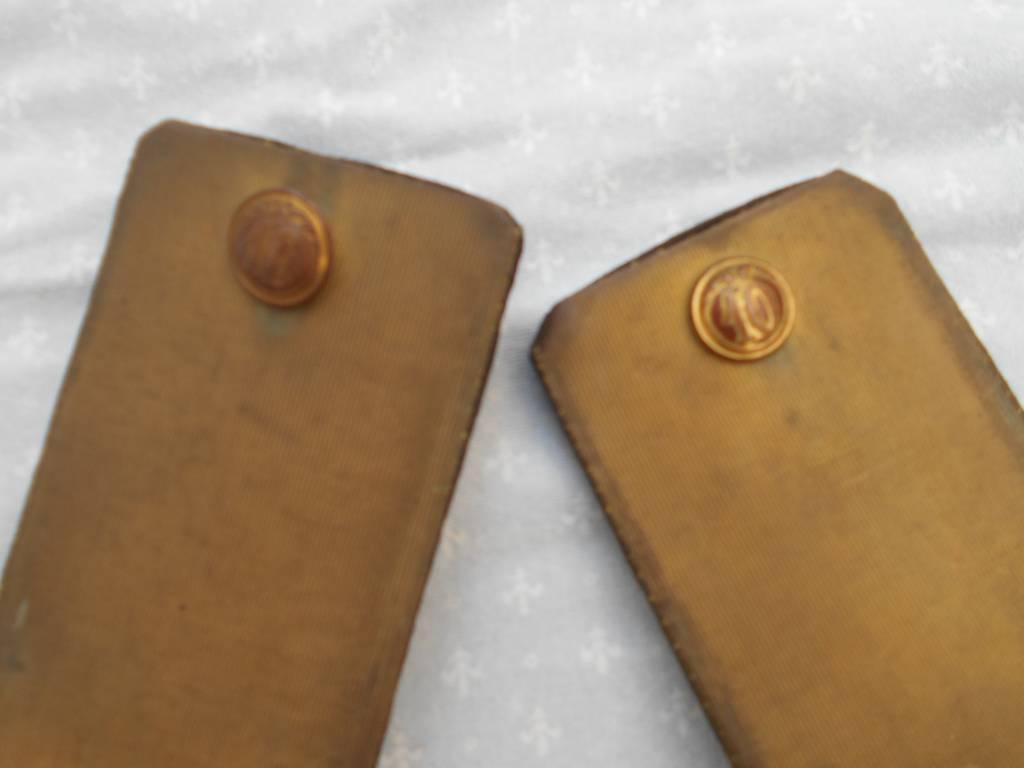 paire d epaulettes d officier de l infanterie francaise 2 empire | Puces Privées
