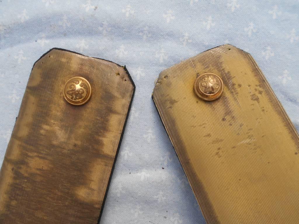 paire d epaulettes francaise d officier de l infanterie 2 empire | Puces Privées