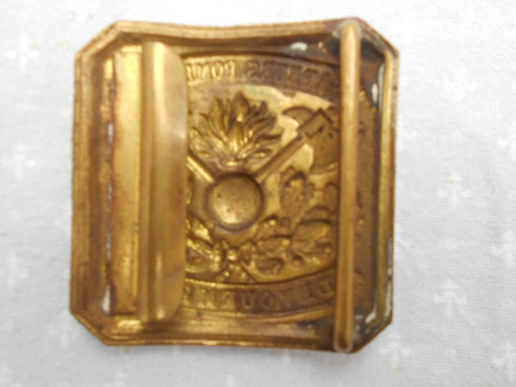 boucle de ceinturon de troupe de sapeur pompier francais 1900 | Puces Privées