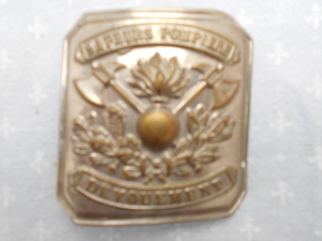 boucle de ceinturon de sous officier de sapeur pompier francais 1900   Puces Privées