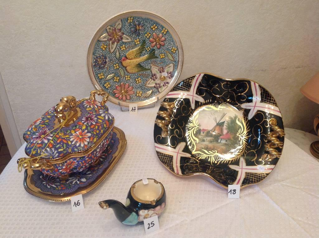 3 céramiques émaux de Bequet   Puces Privées