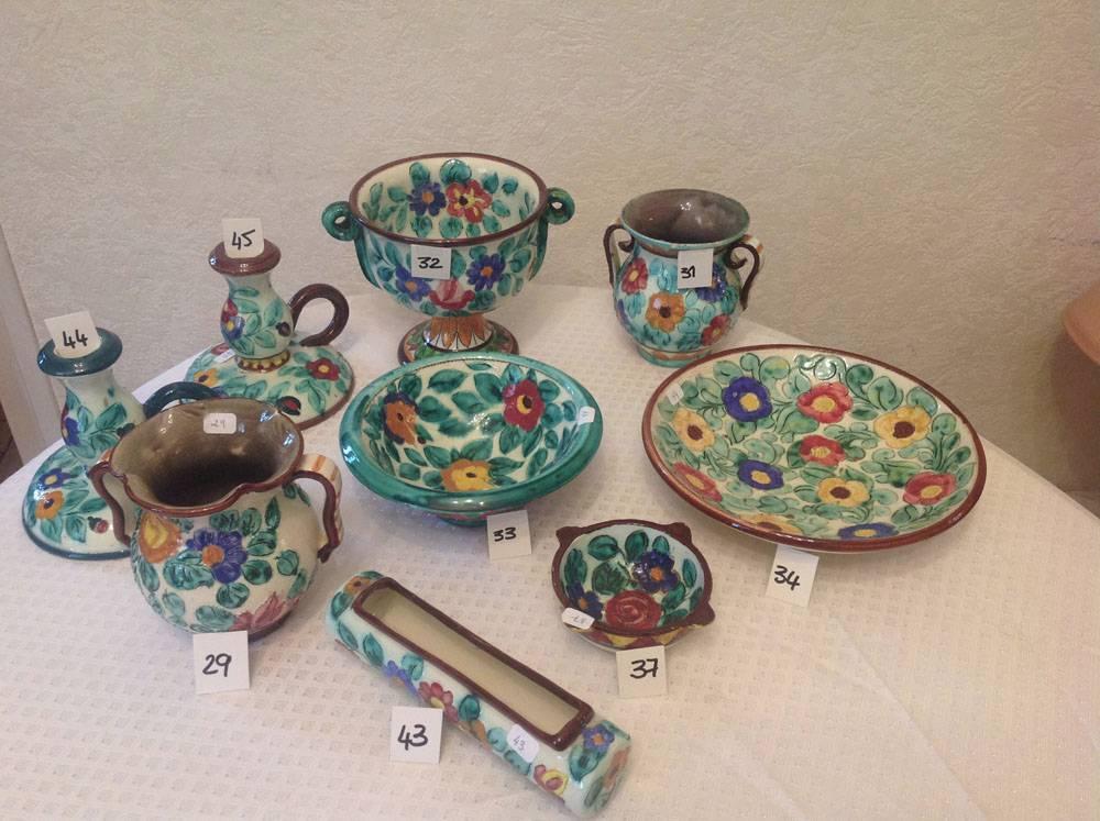 Lot de 9 céramiques Cerart Monaco   Puces Privées