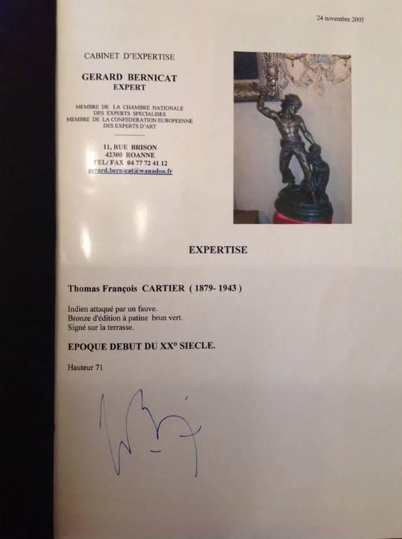 Bronze animalier de Thomas Cartier   Puces Privées