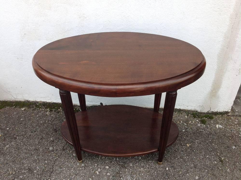 Table guéridon ovale Art déco | Puces Privées