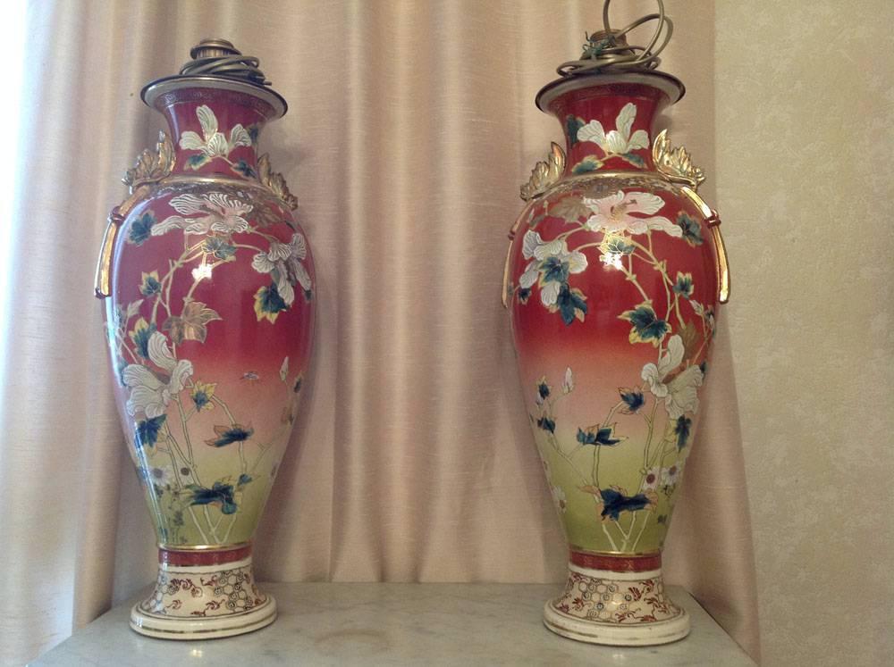 Paire de vases Satsuma XIX° | Puces Privées