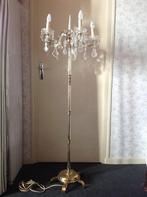 Lampadaire en cristal Années 30-40 | Puces Privées