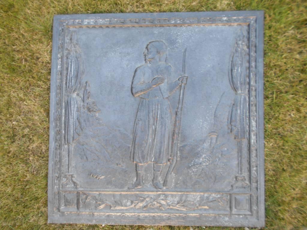 plaque de chemine au zouave   Puces Privées