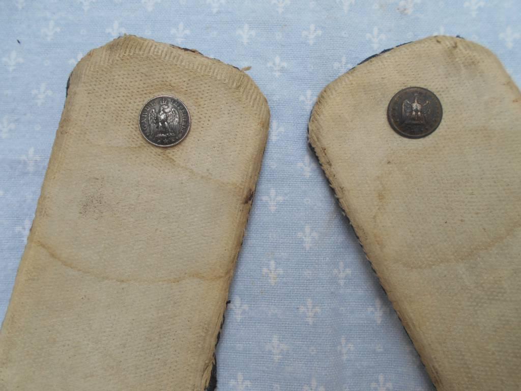 paire d epaulettes et aiguilettes de troupe de cuirassier de la garde imperiale 2 empire   Puces Privées