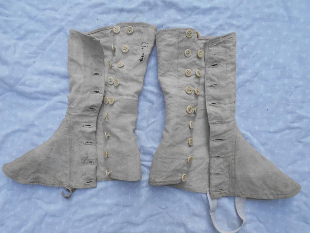 paire de guetres de troupe francaise modele 1867 | Puces Privées