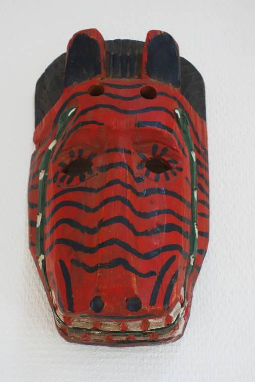 Masque mexicain en bois polychrome | Puces Privées