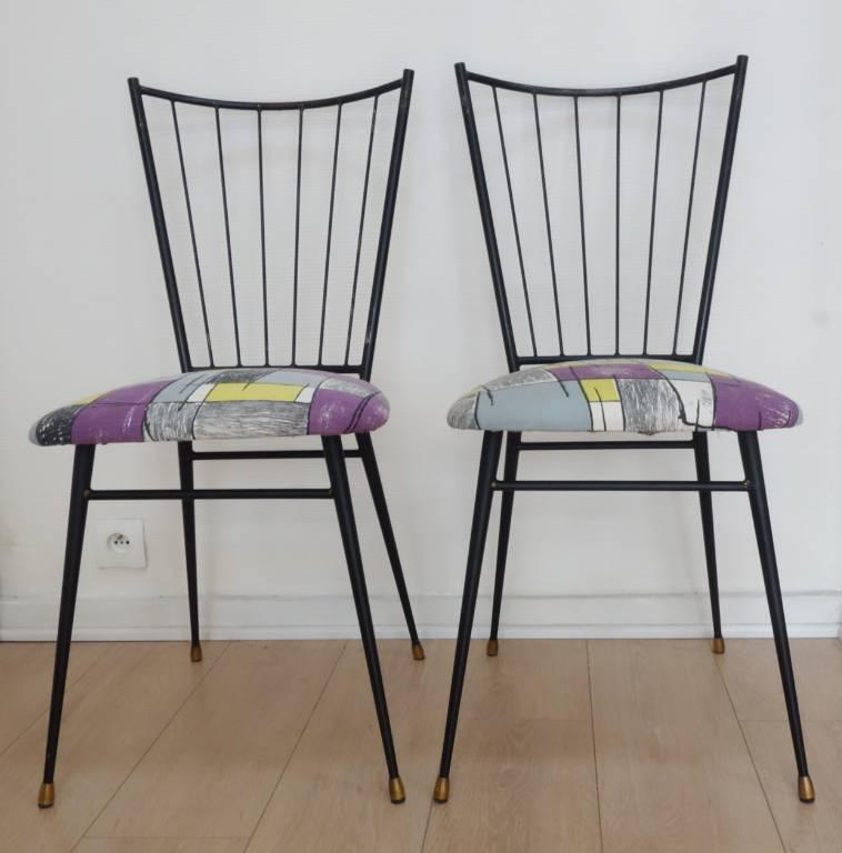 Paire de chaises années 50   Puces Privées